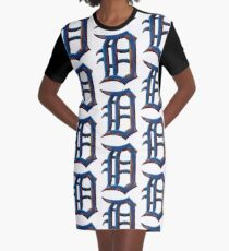 Detroit Old English D - Rusted and True Graphic T-Shirt Dress
