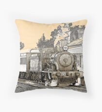 Engine 2705 at Thirlmere Throw Pillow
