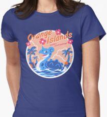 Orange Inseln Tailliertes T-Shirt für Frauen