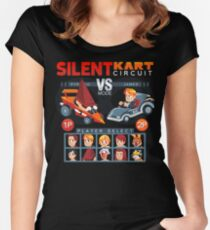 SILENT KART CIRCUIT Fitted Scoop T-Shirt