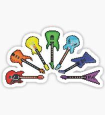 Rainbow of Pixel Guitars Sticker