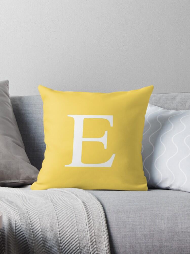 Mustard Yellow Basic Monogram E by rewstudio
