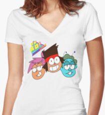 OK KO! Women's Fitted V-Neck T-Shirt