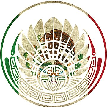 Mexican Flag Mayan Crop Circle by C4Designs