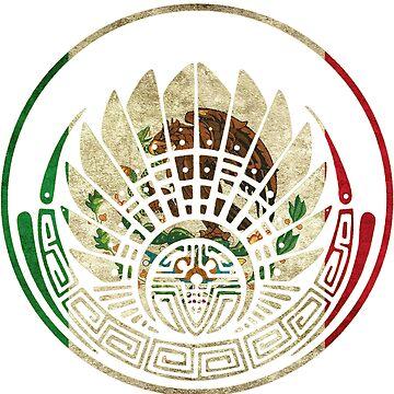 Mexican Flag Mayan Crop Circle by C4Designs