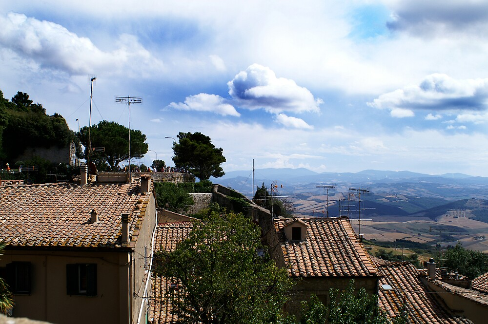 Landscape from rooftops! Italy  by kimberleyB
