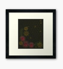Pollenating Bees Framed Print