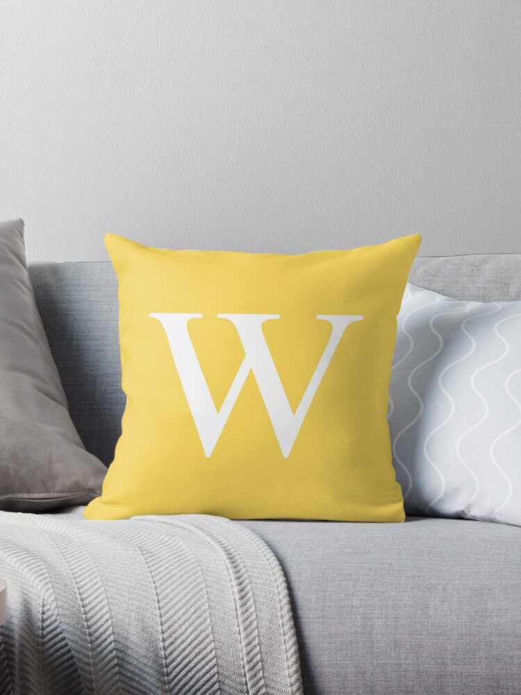 Mustard Yellow Basic Monogram W by rewstudio