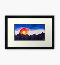 Denver Sunset Framed Print