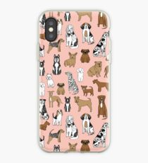 Dogs Dogs Dogs - Pink Background iPhone Case