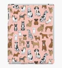 Dogs Dogs Dogs - Pink Background iPad Case/Skin