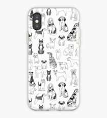Dogs Dogs Dogs - White background iPhone Case