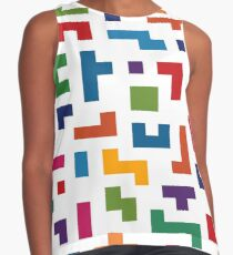 Tetris Colorful Pattern Contrast Tank