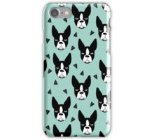 Boston Terrier - Mint iPhone Case/Skin