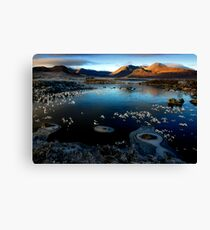 Lochan na h-Achlaise -  Ice rings Canvas Print