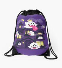 Ghost House Drawstring Bag