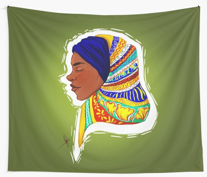 African Hijabi by NyArtGalaxy