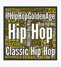 Real Hip Hop Word Cloud Art Photographic Print