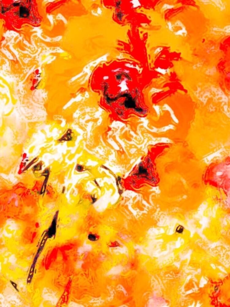 Hibiscus Impressionist Series - Orange by HawaiiArthst