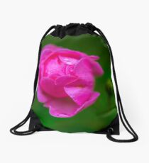 Flower macro Drawstring Bag
