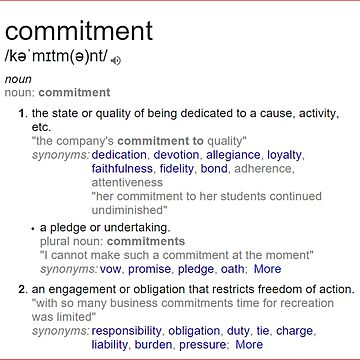 What is meaning of commitment ? by santoshputhran
