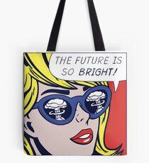 Pop optimistisches Mädchen Tote Bag