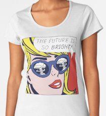 Pop optimistisches Mädchen Premium Rundhals-Shirt