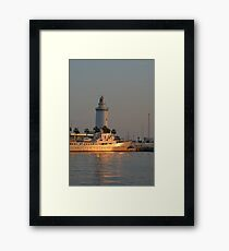 Evening In Malaga Harbor Framed Print