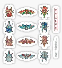 Origami Beetles Sticker