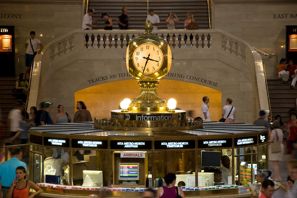 Grand Central Information Booth by Louis Galli