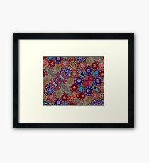 Multi-colored Pattern Framed Print