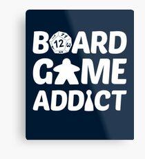 Board Game Addict for Board Game Geeks Metal Print
