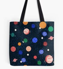 Cosmic Planets by Andrea Lauren Tote Bag