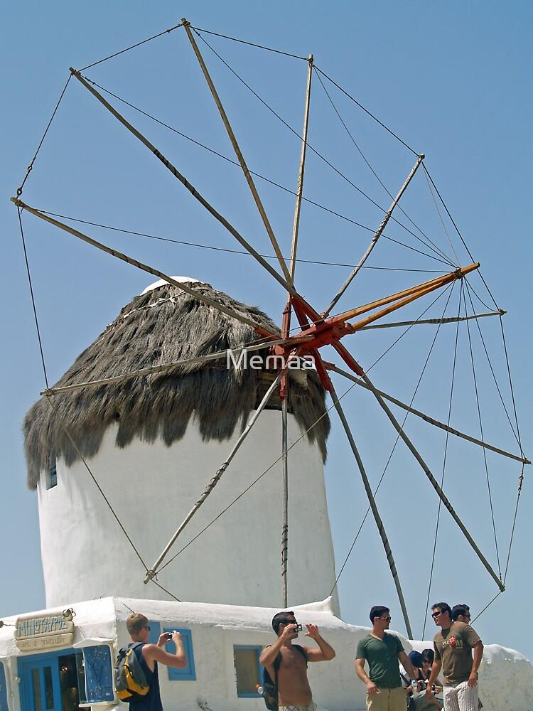 Lone Windmill on Mykonos by Memaa