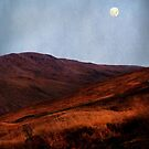 Moon Over Rannoch Moor by jacqi