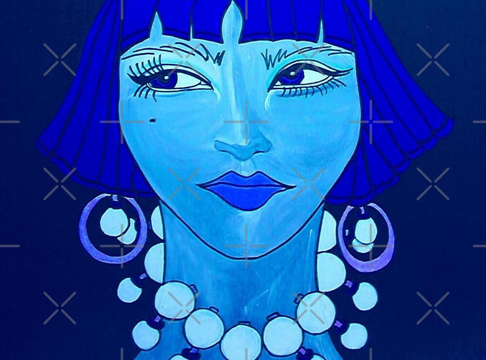 Jezzabelle in Blue Mode by marlaakajake