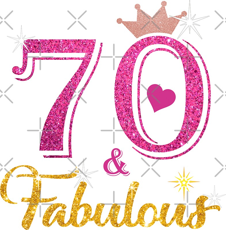 """Fab At 70: """"70 Fabulous Queen 70th Birthday Gifts """" Stickers By Kimcf"""