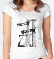 Black construction crane Fitted Scoop T-Shirt