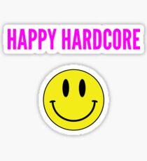 HAPPY HARDCORE SMILEY FACE Sticker