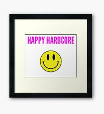 HAPPY HARDCORE SMILEY FACE Framed Print
