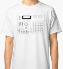AKAI MPC 2000 Blueprint transparent Classic T-Shirt