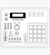 AKAI MPC 2000 Blueprint transparent Sticker