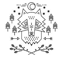 Line art. Wolf by NKTN