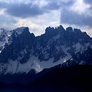 Snow on the Dolomites by annalisa bianchetti