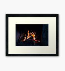 Hot Stone Hearth Framed Print