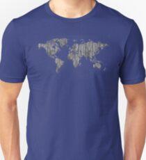World Map - Wooden T-Shirt