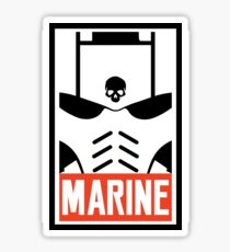 Marine Warhammer 40k Inspired Sticker