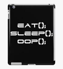 Eat, Sleep, OOP iPad Case/Skin