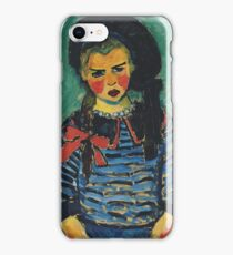 Girl with red ribbon 1911 Alexej von Jawlensky iPhone Case/Skin