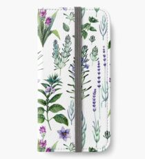 Watercolor botanical collection of herbs and spices iPhone Wallet/Case/Skin